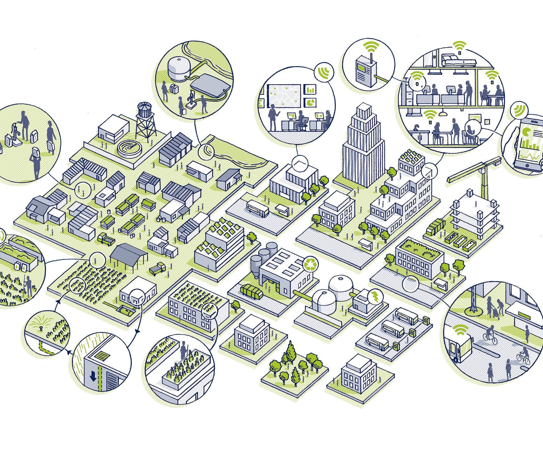 suez smart city graphic